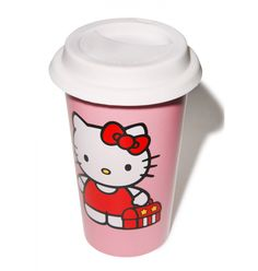 Hello Kitty Ceramic Travel Mug