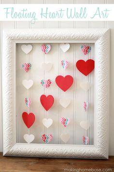 heart wall art making home base #diy #valentinesday #crafts #valentinesdaycrafts #diyvalentinesday #handmadeholiday #handcraftedholiday #handmadevalentinesday www.gmichaelsalon.com #gmichaelsalon