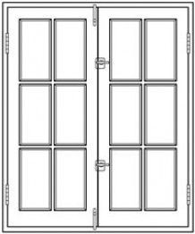 source for in-swing french casement window with latch