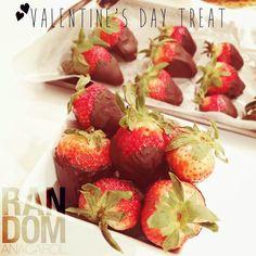 VALENTINE'S DAY TREAT – DARK CHOCOLATE COVERED STRAWBERRIES