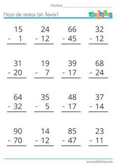 Descarga nuestro cuadernillo de restas gratis en PDF. Material educativo gratis para imprimir y fotocopiar. Restas de 1, 2 y 3 cifras, llevando y sin llevar