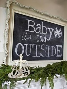 chalkboard fireplace décor - You can put almost anything in a frame to make something practical. Chalk board, mirror, cork..