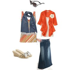 A fashion look from February 2012 featuring Old Navy cardigans, Old Navy tops and Tabeez skirts. Browse and shop related looks.