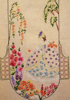 crinoline lady embroidery kit