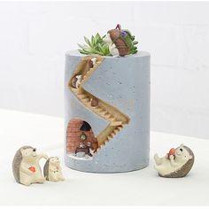 Creative Rural Garden resin flower pots plant Hedgehog Design Figure Decor