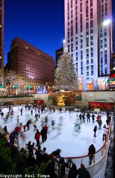Ice skating at the Rockerfeller Center; I love this place too much <3
