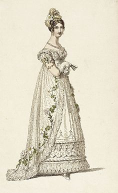 Early 19th Century Fashion plate from LACMA Collections Online - more can be seen at http://collectionsonline.lacma.org/mwebcgi/mweb.exe?request=jump;dtype=d;startat=433