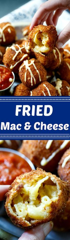 What's better than mac and cheese? Crispy Fried Mac and Cheese with a warm, cheesy middle. possible superbowl app Appetizer Recipes, Appetizers, Cheese Recipes, Fried Mac And Cheese, Mac Cheese, Good Food, Yummy Food, Food Dishes, Cheese Dishes