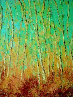 birch trees by Kat griffin