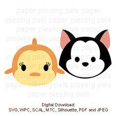 Cleo & Figaro tsum tsum.  Pinocchio pets.SVG cutting file #disney #tsumtsum #SVG