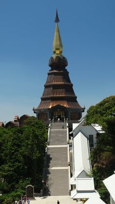 The King's Pagoda, Doi Inthanon, Thailand. Burj Khalifa, Statue Of Liberty, Thailand, Building, Statue Of Liberty Facts, Liberty Statue, Buildings, Architectural Engineering, Tower