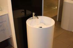 Vola HV1 faucet sitting on a Tower Silk Pedestal