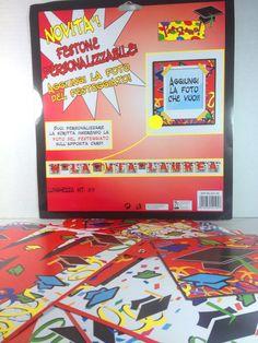 """Festone """"W la mia Laurea"""" personalizzabile con foto. Banner in cartoncino lungo 3,5 mt lettere già unite e filo per appenderlo ai lati. By C&C Creations Store"""