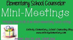 Mini-Meetings...quick screening meetings with all students in school. Could use this worksheet with students at the beginning of year during first classroom guidance lesson to assess student needs.
