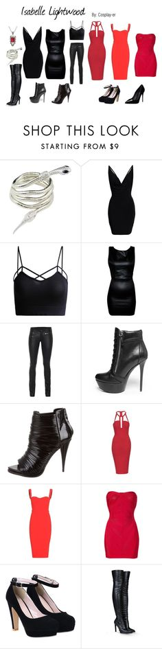 """Isabelle Lightwood"" by cosplay-er ❤ liked on Polyvore featuring SLY 010, Steve Madden, Givenchy, Topshop, Victoria Beckham, Hervé Léger, STELLA McCARTNEY, Dolce&Gabbana, women's clothing and women"