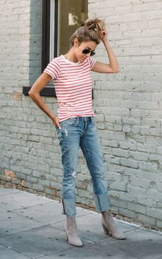 The perfect striped tee