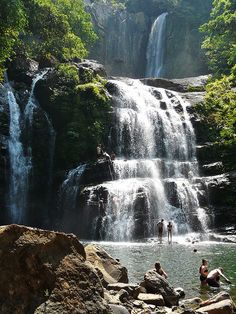 Nauyaca Waterfalls by MichaelDuquetteFowler, via Flickr. Dominical, Costa Rica. See you in a month!