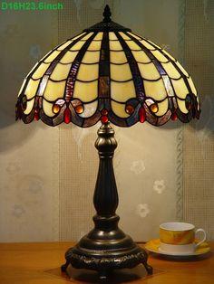 Grid Tiffany Lamp 16S9-19T615