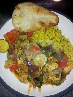 Roast vegetable and tuna curry