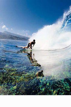 Surfing Ocean Glass