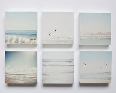 Pale blue grey and white beaches set of 6 photo by SusannahTucker, $102.60