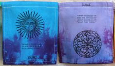 Rumi Prayer Flag. All proceeds to families in Mexico. Free