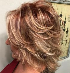 80 Best Modern Hairstyles and Haircuts for Women Over 50 Shorter Feathered Red and Blonde Hairstyle Shag Hairstyles, Modern Hairstyles, Short Hairstyles For Women, Trendy Haircuts, Hairstyles For Over 50, Pretty Hairstyles, Modern Haircuts, Pixie Haircuts, Feathered Hairstyles