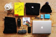 Essentials: Claude d'Avoine Geek Bag, Things Organized Neatly, Edc Tactical, What's In Your Bag, Claude, Cool Backpacks, Camera Accessories, Best Camera, Clothes Horse
