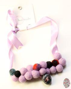 """Hand-made felt necklace by Hatice Ayyıldız at """"Bir Kuzguncuk Dukkani"""" Istanbul."""