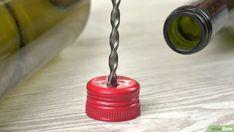 Eine Bewässerung für Pflanzen aus einer Weinflasche machen (mit Bildern) – wikiHow Empty Wine Bottles, Marbles, Irrigation, Glass, Plants, Remove Labels, Corks, Tape, Glass Bottles