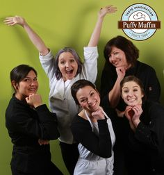 Here are our fun and incredible Cake Artists at Puffy Muffin Dessert Bakery and Restaurant. We love them! www.puffymuffin.com