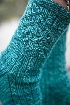 Bayonne pattern by Manuela Burkhardt # . Bayonne pattern by Manuela Burkhardt History of Knitting Str. Crochet Socks, Knit Mittens, Knitting Socks, Hand Knitting, Knitting Patterns, Knit Crochet, Crochet Patterns, Knit Socks, Knitting Wool