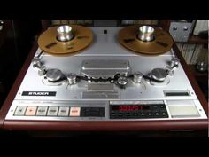 "Studer A820 master recorder editing capabilities - 1/2"" tape - Remix…"