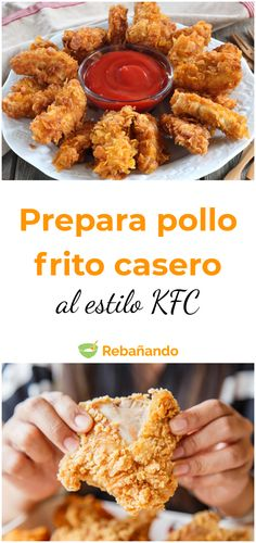 Pollo Frito Kfc, Pollo Frito Estilo Kentucky, Cooking Time, Cooking Recipes, Kids Meals, Easy Meals, Homemade Fried Chicken, Healthy Snacks, Healthy Recipes