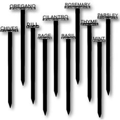 Garden Stakes - Pin it :-) Follow us :-)) zGardensupply.com is your Garden Supply Gallery ;) CLICK IMAGE TWICE for Pricing and Info SEE A LARGER SELECTION of garden stakes at  http://zgardensupply.com/category/garden-supply-categories/garden-structures/garden-stakes/ - garden, gardening, gardening gear , gift ideas  -  Laser-cut Raised Letter Weatherproof Acrylic Herb Plant Garden Stakes USA 11in High Black/White « zGardenSupply