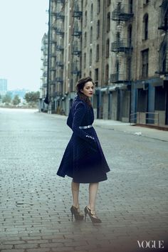 Marion Cotillard for Vogue August 2012 by Peter Lindbergh