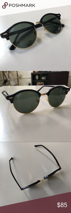 73b1598b529a7 Ray Ban • Black Clubround Classic Sunglasses The Clubround s phantos sun  shape creates a bold identity
