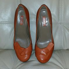 Women's Ecco Landskrona Shoes Ecco Landskrona 65mm Dress Shoes Burnt Ochre  (NWOT ) Ecco Shoes Heels
