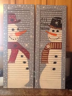 Snowmen shutters I made for mom
