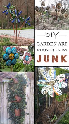 12 Ideas How To Create Unique Garden Art From Junk • Garden Decor • Garden Decorations