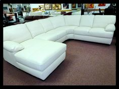 Natuzzi Editions White Leather Sectional B594  25 Grade,natuzzi Leather  Sectionals, Natuzzi Leather