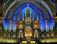 Ornate Church - Notre-Dame Basilica of Montréal
