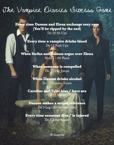 Amanda, I finally figured out how to make us workout! Vampire Diaries Workout Game