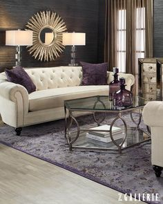 Glam living rooms modern glam living room decor lush fab home trends shades Glamour Living Room, Home Living Room, Living Room Designs, Living Spaces, Glamour Bedroom, Canapé Design, Interior Design, Luxury Interior, Luxury Sofa