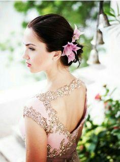Vintage inspired beautiful peach Saree blouse