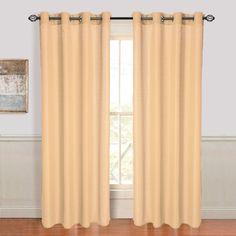 Olivia Jacquard Grommet Single Curtain Panel