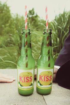 love vintage soda bottles at my weddings!
