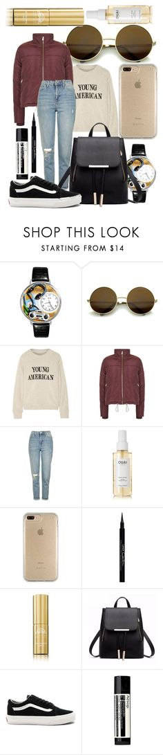 """""""Untitled #129"""" by sole-9948 ❤ liked on Polyvore featuring Whimsical Watches, The Elder Statesman, Topshop, Ouai, Speck, Givenchy, Tabitha James Kraan, Vans and Aesop"""