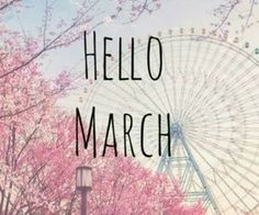 Happy March everyone!<3