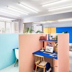 Os espaços dos donos do escritório.
